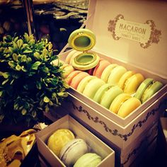 Macaron Boxes .... give away ideas for babyshowers & weddings.