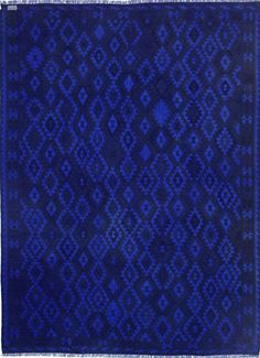 """Hand-knotted Vintage overdyed Kilim 8' 3"""" x 11'  Blue - NuLOOM - $1,166.20 - domino.com"""