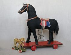 german_toy_horse Rocking Horse Toy, German Toys, Pull Toy, Old Games, Antique Toys, Nature Animals, Old Toys, Art Forms, Antiques