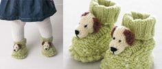 doggie booties free pattern - knitted