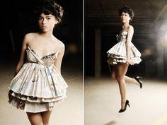 Newspaper Dress Designs | Newspaper dress