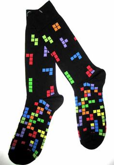 Crazy Socks for Men | Video Game Inspired Color Cube Socks - Men's