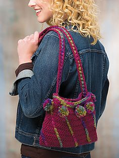 Chain Reaction Purse by NTmaglia in Crochet World Oct 2016