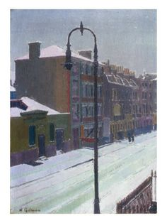 A London Street in Snow, 1917. By: Harold Gilman