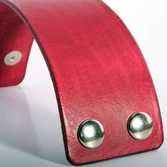 Red Leather cuff bracelet