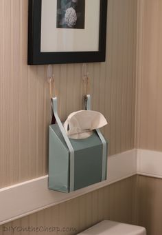 Create A Guest Ready Bathroom With Kleenex: Make A DIY Kleenex Hand Towel  Wall