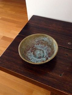 Vintage Hand Carved Copper & Brass Fully Oxidized Fine Metalwork Turkish Hammam (Hamam) Bowl for Rustic Home Decoration