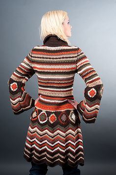 Crochet cardi Missoni Inspiration pattern by Fashion Martina