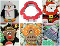 One cookie cutter... Five designs!! How to Decorate Polka Dot Turkey Cookies