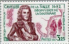 Cavelier de la Salle. Discovery of Louisiana - 1682