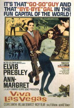 vintage movie poster:  elvis viva las vegas 1964