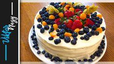 Ovocná torta s mascarpone krémom, veľmi chutná a rýchla Cheesecake, Low Carb, Birthday Cake, Cream, Fruit, Youtube, Recipes, Food, Cupcakes