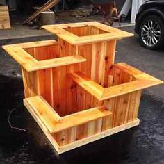Multi-Tiered Cedar Planter / Cedar Rectangular Planter Box Ottawa Ottawa / Gatineau Area image 1 (How To Build A Shed Out Of Pallets) DIY pallet and wood planter box ideas don't have to be predictable. DIY pallet and wood planter box ideas don't have to b Backyard Projects, Outdoor Projects, Garden Projects, Wood Projects, Woodworking Projects, Garden Ideas, Woodworking Chisels, Youtube Woodworking, Woodworking Machinery