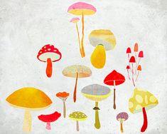Octobre  Art  Print of an original illustration  Color by aliette, €19.00