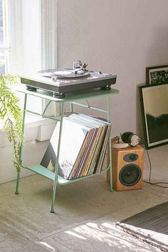 Urban Outfitters Side Table - perfect for a record player!!