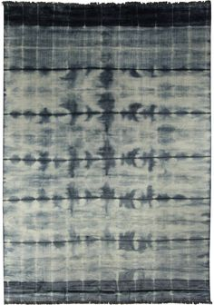 Blue Stripe Dye Rug N10743 - by Doris Leslie Blau.