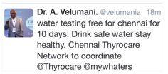 Free water testing for Chennai