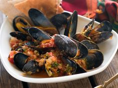 Using our succulent Tomatoes on the Vine, this dish serves 4 as an appetizer or 2 as a main course. Clams can be substituted for mussels or a combination of both clams and mussels can be used for this recipe.