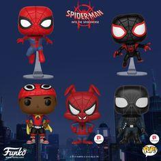 Funko Launches 'Spider-Man: Into the Spider-Verse' Pop Figures Funko Pop Dolls, Funko Pop Figures, Pop Vinyl Figures, Funko Pop Marvel, Marvel E Dc, Harry Potter Pop Figures, Hobbit, Custom Funko, Funk Pop