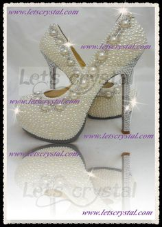55+inch+Wedding+high+heel+shoes+SWAROVSKI+crystal+by+linajoyce,+$208.00