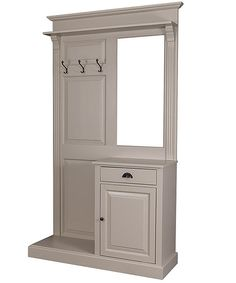 French Panelled Hall Stand With Cabinet And Mirror