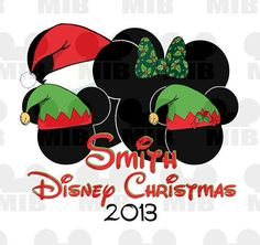 Disney Holiday FAMILY OF 4 - Christmas in Disney - Digital File - Personalized - Great Idea for Family Shirts!