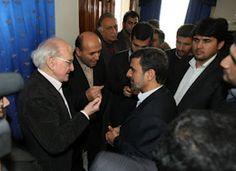 Ahmadinejad honoring Robert Faurisson, Holocaust denier