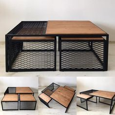 """""""TRIP"""" Industrial Style 3 """"Middle coffee table – Wood Works – Just another WordPress site Iron Furniture, Steel Furniture, Unique Furniture, Industrial Furniture, Furniture Makeover, Furniture Sets, Home Furniture, Furniture Design, Painted Furniture"""