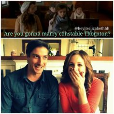 Lol I know that wasn't only my reaction  When Calls The Heart ❤ Erin Krakow and Daniel Lissing