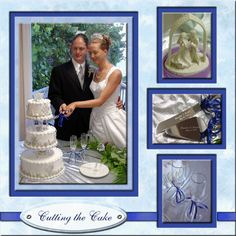 Scrapbook Wedding Layout