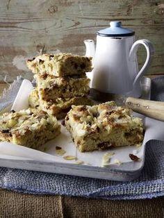 Stollen-Blechkuchen Rezept