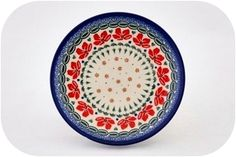 Polish pottery with red