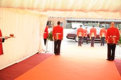 Bees Marquees had the pleasure of supplying The Coldstream Guards for their Presenting The Colour ceremony