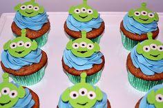 Toy Story Alien Cupcakes by Simply Sweet Creations (www.simplysweetonline.com)
