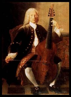 7 string Viola da Gamba Painting: by Jean-Martial Fredou, of J.B. Forqueray, 1740?  @TheCipher.com