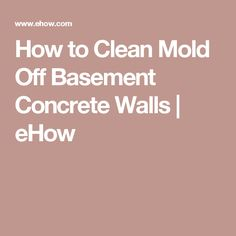 how to clean mold off basement concrete walls ehow