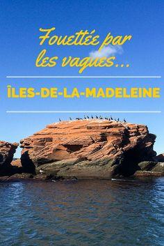 Mon tour de bateau aux îles-de-la-Madeleine, pour explorer la côte et les falaises de grès rouge. Magdalen Islands, Quebec, Canada