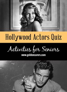 Name The Hollywood Actors: Do you remember these faces? A fun visual quiz for seniors that will lead to reminiscing.