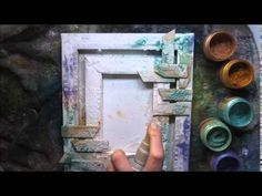 How to make mixed media canvas 'Be brave, be bold' for Finnabair Creativ...