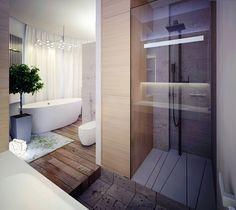 kleine badezimmer design 105 Badezimmer Design Ideen – Stein und Holz kombinieren