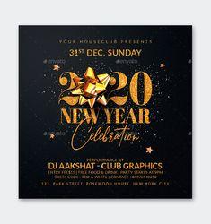 New Year Flyer Design PSD