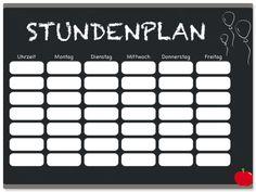 Freebie Download Stundenplan Schulanfang Schuleinführung Einschulung  www.pickposh.de