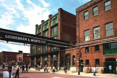 Toronto - The Distillery Historic District - boutiques, unique cafes, artisan shops, performance venues and award-winning restaurants Great Places, Places To See, Beautiful Places, Toronto Neighbourhoods, Toronto Travel, Downtown Toronto, Ontario, The Good Place, Culture