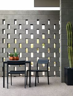 Zen Style Cinder Block Privacy Wall