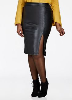 05ce5ef7561 Clearance Womens Plus-Size Clothing On Sale. Faux Leather Pencil SkirtPlus  ...