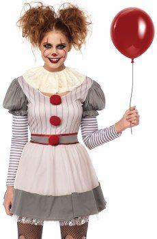 Halloween Ideas 2019 Women.Creepy Clown Adult Costume Women S Halloween Costumes In