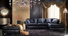* Угловой диван Arthur в классическом стиле от фабрики Unique Classic Trend * Corner sofa Arthur in classic style from factory Unique Classic Trend