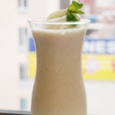 A satisfying blend of nutrient-rich Florida grapefruit juice and vanilla yogurt create an out-of-this-world smoothie.