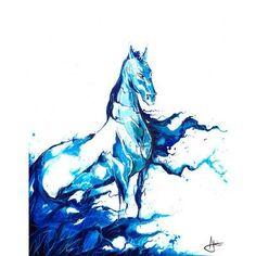 JaxsonRea ''Poseidon'' by Marc Allante Painting Print on Wrapped Canvas Size: