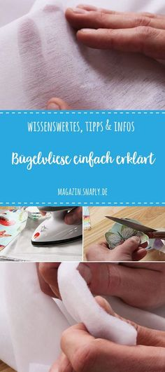 Bügelvliese einfach erklärt – Wissenswertes, Tips & Infos Everything you always wanted to know about ironing fleece! Explained by Mr. Sewing Hacks, Sewing Tutorials, Sewing Tips, Sewing Basics, Sewing Crafts, Leftover Fabric, Textiles, Love Sewing, Basic Sewing